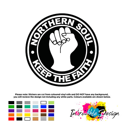 Northern Soul Keep The Faith Vinyl Sticker Decal Window Car Bike 10 X 10cm • 2.49£