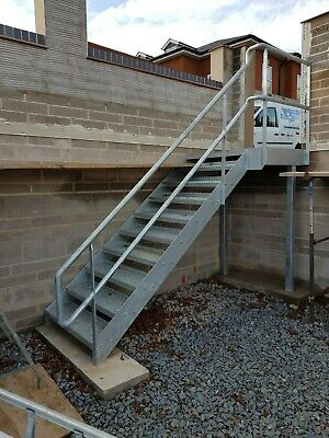 Steel Staircase Metal Staircase Metal Fire Escape All Sizes Flat Pack Pre Fab • 1£