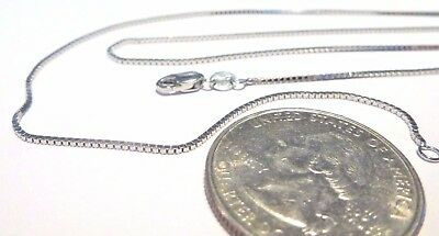 $179.99 • Buy 14K White Gold 16 Inch 1MM BOX CHAIN - With Lobster Lock...... 100% Guaranteed!