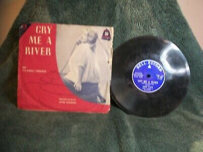$4.50 • Buy Vtg 7  78 Rpm Bell Record Cry Me A River & It's Almost Tomorrow With  Sleeve