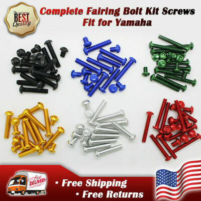 $19.99 • Buy MS Fairing Fasteners Motorcycle Bolt Kit Screws Fit For Yamaha YZF R1 R6 R6S