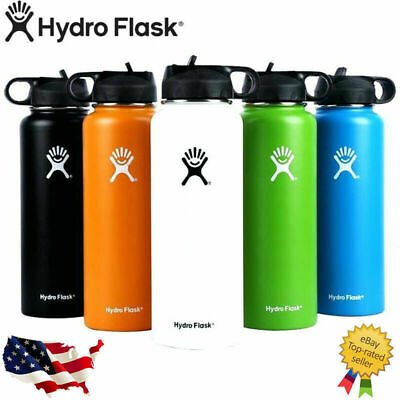 $8.99 • Buy Hydro Flask Stainless Steel Water Bottle Thermos Icy Cold Straw Lid Drinking US