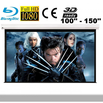 AU295 • Buy VisuaLax Motorized HD 100 120 130 140 150 Inch White Projector Screen 16:9