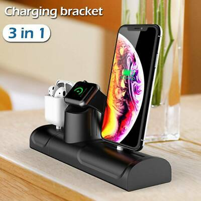 AU19.99 • Buy 3in1 Charger Station Dock Stand Charging Holder For Apple Watch IPhone Air Pods