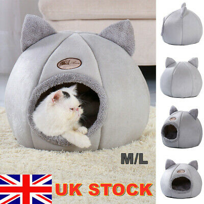 £12.99 • Buy Cat Cave Bed Pet Dog Kitten For Indoor Cozy House Cat Bed Igloo Warm Nest Kennel