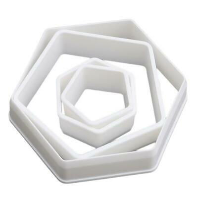 Cupcake Cookie Cutter Fondant Mold DIY Hexagon Sugarcraft Biscuit Embossing DS • 2.08£