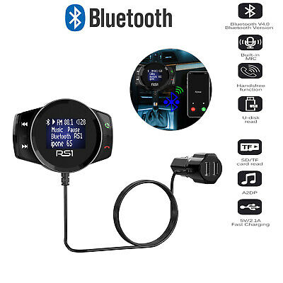 Wireless Bluetooth USB Car Kit LCD SD FM Transmitter MP3 Player Magnet Handsfree • 12.99£