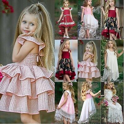 AU22.41 • Buy Kids Flower Girl Tutu Tulle Dress Sequins Wedding Princess Holiday Party Dresses