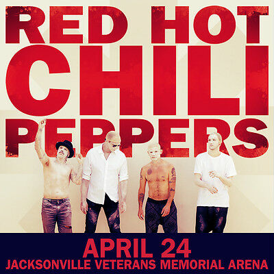 $14.51 • Buy RED HOT CHILI PEPPERS 2016 JACKSONVILLE, PHOENIX, BOSTON CONCERT POSTER: Choose!