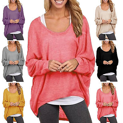 AU23.39 • Buy Plus Size Womens Oversized Long Sleeve Shirt Baggy Tops Casual Batwing Jumper