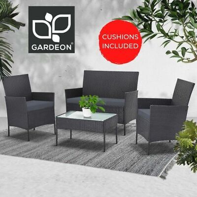 AU309.90 • Buy Gardeon Garden Furniture Outdoor Lounge Setting Wicker Sofa Set Patio 4 Piece