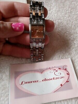 £5.95 • Buy Lovely Ladies Girls Silver Diamante Strap Watch- NEW In Box Accessory