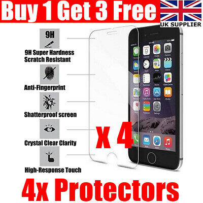 Tempered Glass Screen Protector For IPhone 6 6s 7 8 IPhone 6 Plus 7 Plus 8 Plus • 2.49£