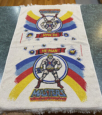 """$39.99 • Buy Vintage 1980's Mattel He Man Masters Of The Universe Bath Towel Approx 37"""" X 22"""""""