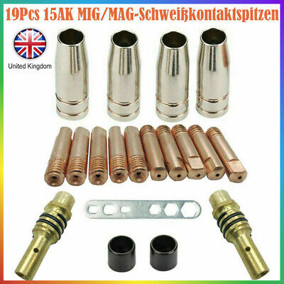 19PCS M6 Torch Welder Contact Tips Holder Gas Nozzle For Welding MIG/MAG MB UK • 9.33£