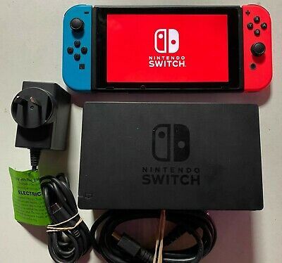 AU265 • Buy Nintendo Switch Console Neon Working