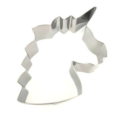 AU12.40 • Buy Unicorn Head Cake Mold Stainless Steel Biscuit Cookie Cutter Mould DIY Tools