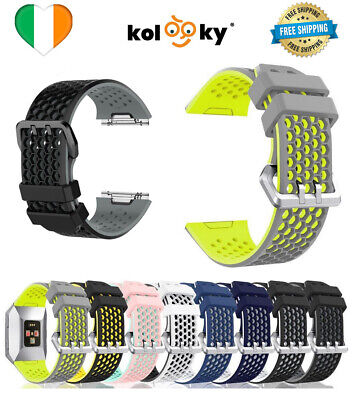 $ CDN12.49 • Buy For Fitbit Ionic Strap Silicone Sport Fitness Replacement Wrist Band Watch LARGE