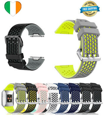 $ CDN15.66 • Buy For Fitbit Ionic Strap Silicone Sport Fitness Replacement Wrist Band Watch LARGE
