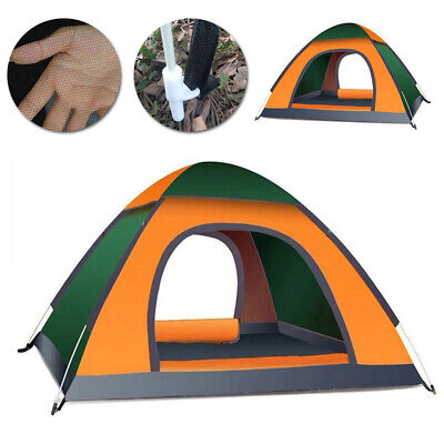 AU71.20 • Buy 3-4 Person Man Family Automatic Pop-Up Camping Tent Waterproof Outdoor Hiking