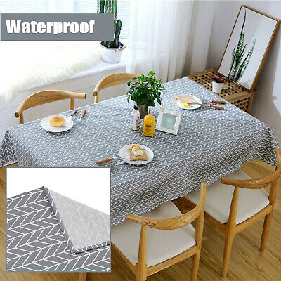 AU23.95 • Buy Table Cloth Cotton Table Cloth Kitchen Dining Tablecloths Decor Cover Durable
