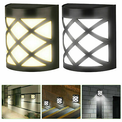 Garden Solar Wall Fence Door Shed Step Lights Bright 6 LEDs Outdoor Fence Light • 7.49£