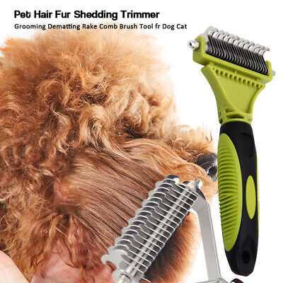 Pets Dog Cat Cleaning Brush Grooming Undercoat Rake Hair Comb Dematting Tool New • 7.96£