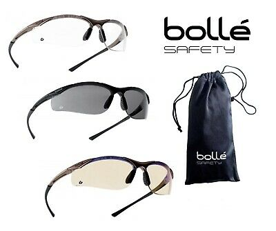 £12.88 • Buy BOLLE CONTOUR Safety Glasses Clear Smoke ESP Lens Anti-Fog Anti-Scratch