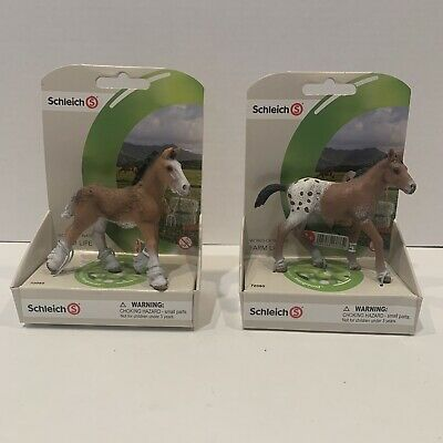 Schleich Brown Appaloosa  Shire Foal Baby Horse Animal Figurine 72085 In Package • 18.09£