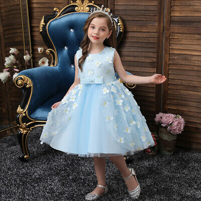 £15.71 • Buy Kids Girls Tutu Dress Wedding Bridesmaid Party Pageant Dresses Formal Ball Gown
