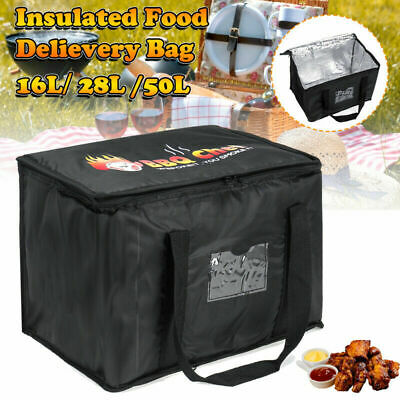 Food Delivery Insulated Bags Pizza Takeaway Thermal Warm/Cold Bag Ruck 3Sizes UK • 13.79£