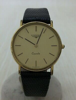 $ CDN395.01 • Buy Authentic Longines Vintage  Watch Quartz Gold Wristwatch Leather Gold Q389572623