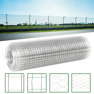 Galvanised Chicken Wire Mesh Fence Net Hexagonal Netting Fencing Cages Runs Pens • 16.95£