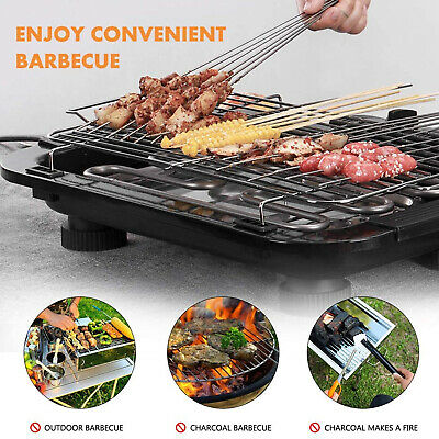 £30.65 • Buy Power Electric Table Top Grill BBQ Home Barbecue Tool Kitchen Cooking Smokeless