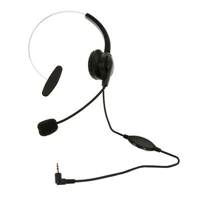 2.5mm Corded Office Headset Telephone Noise Cancelling For Landline Phones • 12.97£