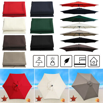 Umbrella Cover Surface Replacement Rainproof Fabric Garden Parasol Canopy` • 15.50£