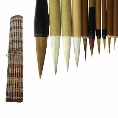 Bamboo Traditional Chinese Calligraphy Brushes Set C5U7 Painting Supplies H3C0 • 9.43£