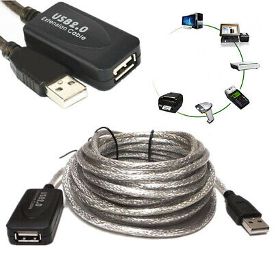 AU14.44 • Buy 5/10/15/20m USB 2.0 Data Extension Cable Type A Male To Male M-M Connection Cord