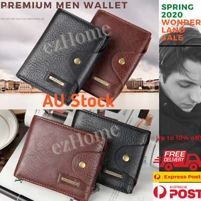 AU13.99 • Buy Premium Men Leather Wallet Pocket Card Clutch ID Credit Card Holder New 2020