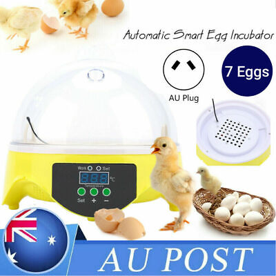 AU18.99 • Buy 7 Egg Automatic Incubator Fully Digita Turning Chicken Duck Eggs Poultry Hatcher