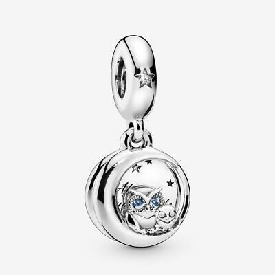 S925 Sterling Silver 'Always By Your Side OWL' Dangle Charm For Bracelets Gift • 9.99£