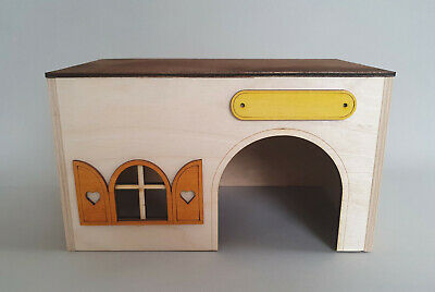 Wooden House Guinea Pig Rodents Small Animal Cage Chinchilla Ferret Rat Pet Home • 9.99£
