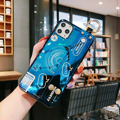 For IPhone 11 Pro Max XR XS Lovely Camera Stand Holder Lanyard Phone Case Cover • 4.99£