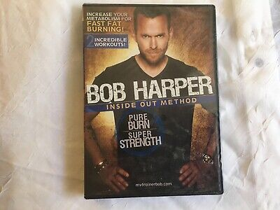 New Sealed Bob Harper Inside Out Method: Pure Burn; DVD Free Shipping • 7.09£