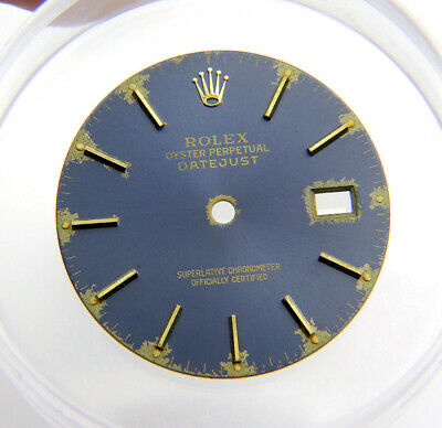 $ CDN315.50 • Buy Vintage Genuine Rolex Datejust 16013 16233 Tropical Blue Yellow Gold Watch Dial