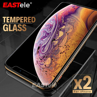 AU4.75 • Buy 2X IPhone 11 PRO XR XS XS Max X 7 8 6S Plus SE Tempered Glass Screen Protector
