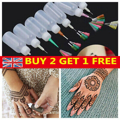 1/5pcs Jam Painting Squeeze Bottles Plastic Nozzles Tattoo Ketchup Dispensers~ • 4.70£