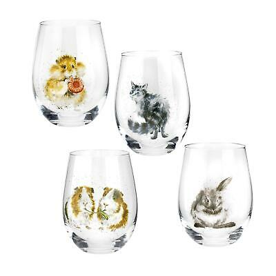£32 • Buy Royal Worcester Wrendale Designs Assorted Domestic Animals Tumblers Set Of 4