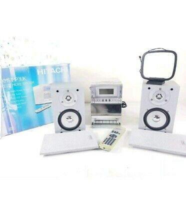 HITACHI AX-M51 Hifi System With CD-MP3 Player/FM-DAB Tuner/ Deck/Speakers • 69.99£