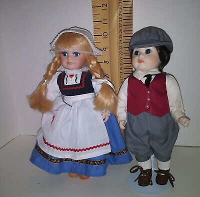 $ CDN82.05 • Buy Lot 2 Royalton Collection,  & Jollmascot  Holland, Porcelain Doll Country Decor